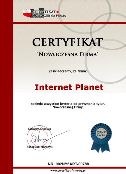 Certyfikaty internet planet internet for Internet plante