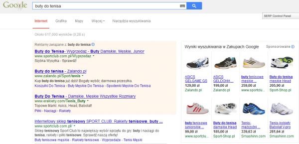 Google PLA reklamy produktowe Google PLA